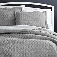 Quilted Bedspreads | Crate and Barrel & Elize Grey Full/Queen Quilt Colors Adamdwight.com