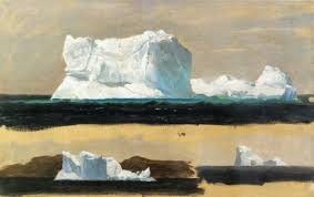 church frederic edwin icebergs twillingate newfoundland hudson river school oil on fiberboard landscape cooper hewitt national