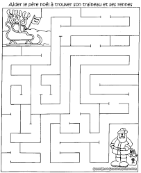 Jeu Pere Noel Labyrinthe Noel Gratuit Imprimer Labyrinthes