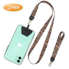 Designer Phone Lanyards 2020 Leopard Grain Phone Lanyard Necklace Cord Keychain String With Wrist Strap Neck Chain Phone Rope Lanyards Accessories For Smartphone Designer