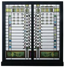 details about frank lloyd wright martin house casement window stained art glass panel display