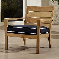 outdoor wooden chairs with arms. Perfect Arms Regatta Natural Lounge Chair With Sunbrella  Cushion With Outdoor Wooden Chairs Arms