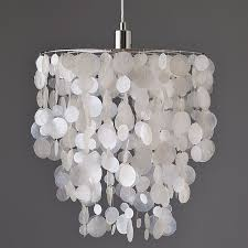 awesome faux crystal chandeliers plastic chandelier capiz west elm light hinging astonishing