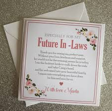 To My Future In Laws In Laws Personalised Wedding Card To