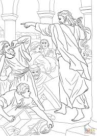 Small Picture Jesus Chasing the Money Changers from the Temple coloring page