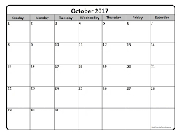 october 2017 calendar template october 2017 printable calendar