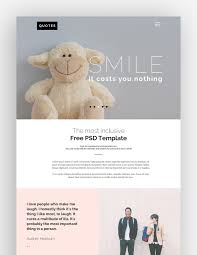 psd blog website templates only for creative ideas quotes psd website template