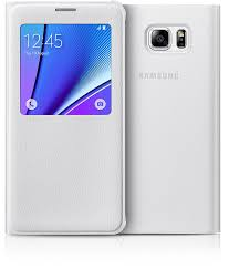 White pearl Galaxy Note 5 with white S View cover Accessories | Samsung - The Official Site