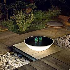 patio table lighting outdoor solar table lamp on faux slate outdoor battery operated table lamp above