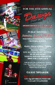11th Annual Dawgs Banquet And Fundraiser Okotoks Dawgs