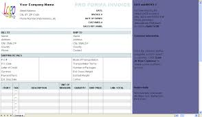 Performa Format Free Proforma Invoice Template Download
