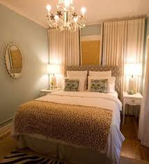 White Ceiling Decoration Blue Paint Walls Small Bedroom King Bed - Bedroom decorated