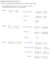 simplifying rational expressions multiplying dividing rational expressions