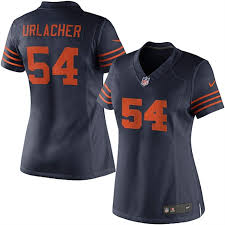 Jersey Limited Alternate Chicago Urlacher Navy Brian Nike Blue Bears Women's A Hand-off To RB Rajion Neal