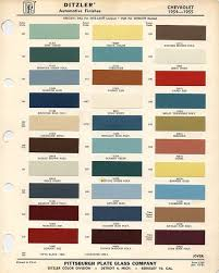 Chevrolet Apache Factory Colors 54 To 55 57 Chevy Trucks