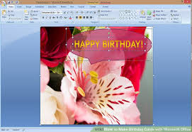 how to create a birthday card on microsoft word how to make birthday cards with microsoft office with pictures