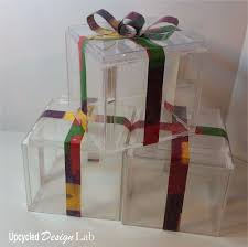 Glass Present Box Lights Quick And Easy Upcycled Christmas Decoration Light Boxes