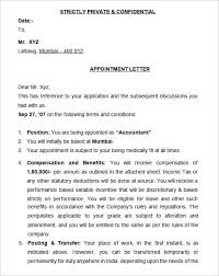 How To Write Appointment Letter 12 Sample Appointment Letters Writing Letters Formats