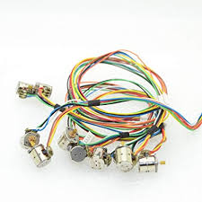 amazon com 10pcs 2 phase 4 wire micro 8mm stepper motor mini 10pcs 2 phase 4 wire micro 8mm stepper motor mini stepping motor copper