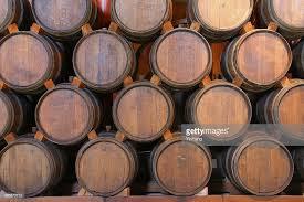 stacked oak barrels. Oak Wine Barrels Stacked In Winery Cellar, Napa Valley, California : Stock Photo A