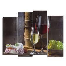Red Wine Desserts <b>Unframed Modern</b> Picture <b>HD</b> Canvas <b>Print</b> Wall ...