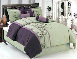 california king pillows purple comforter and green bedding set with fl pattern plus placed on california king bed