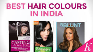 Best Hair Colours In India