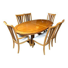 Transitional Stanley Furniture Birds Eye Maple And Walnut Inlay Adorable Stanley Furniture Dining Room Set