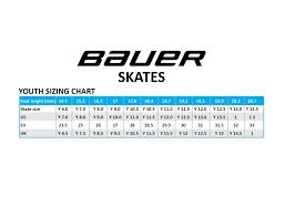 Bauer Skate Size Chart Bauer Nexus N6000 Youth Ice Hockey Skates