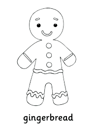 Gingerbread Man Coloring Page Blank Color Pages Printable Characters