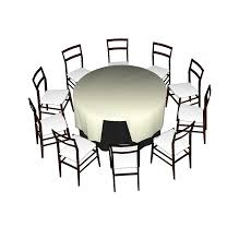 10 seat round table sketchup model