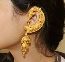 Ear Cuffs Indian Design Pin By Exquisite Jewelsngems On Designer Earrings Indian