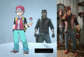 Tried making Red(outfit) in Red Dead Online : pokemon