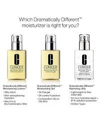 Clinique Skin Types Chart Clinique Dramatically Different Moisturizers Reviews