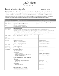 Meeting Agenda Template Word 2010 Board Meeting Agenda In Word Templates At