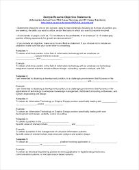 Resume Objective Statement Musiccityspiritsandcocktail Com