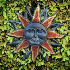 outdoor wall art sun face design on sun and moon outdoor wall art with outdoor wall art sun face design create with kids pinterest