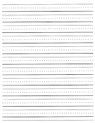 Printable Wide Ruled Paper Classy Lined Paper Template For Preschoolers Preschool Journal Writing