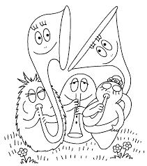 Kids N Fun Kleurplaat Barbapapa Barbapapa Orkest