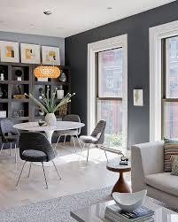 Dinning Rooms  Rustic Modern Gray Dining Room With Rustic Table - Rustic modern dining room ideas