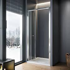 bi fold shower door enclosure walk in