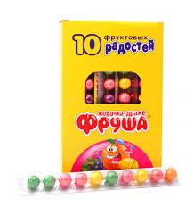 <b>Жевательное драже</b> Фруша 10 фруктовых радостей, 24 г, артикул