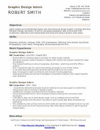 Graphic Designer Career Objective Graphic Design Intern Resume Samples Qwikresume
