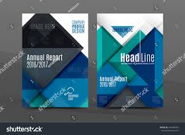 Annual Report Cover Template Squares Triangles Annual Report Cover Template Stock Vector 17