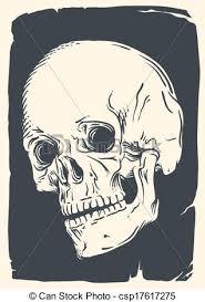 Vintage Illustrations Isolated Vintage Skull Illustration Isolated Skull Illustration On