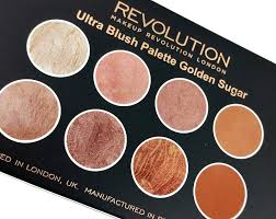 makeup revolution ultra blush palette golden sugar review swatches
