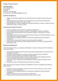 Adjunct Professor Resume Sample Adjunct Professor Resume Examples