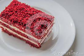 slice of birthday cake red velvet. Fine Red Download Red Velvet Slice Of Cake On White Plate Stock Photo  Image Of  Birthday To Birthday