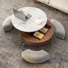 round lift top coffee table with
