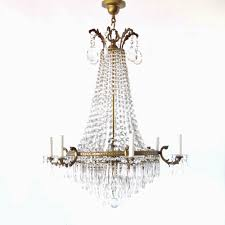 french empire chandelier with bronze frame